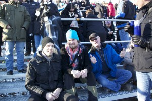 Anders, Martin, SAIK-Supporter och Kim med kaffe, Per saknas till vänster.